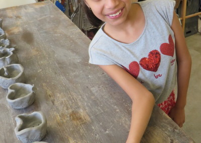 Pinch pot projects made at a Spark birthday party