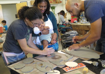 special family event: baby feet tiles